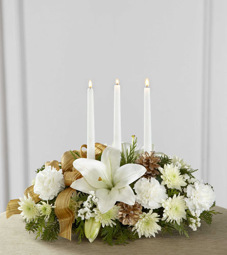 Season's Glow White Centerpiece